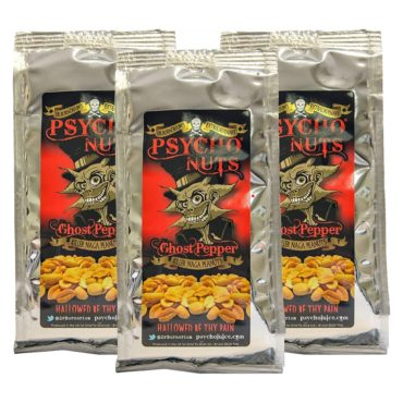 *PSYCHO NUTS Ghost Pepper Peanuts x 3 bags