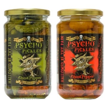 *PSYCHO PICKLES COMBO Onions & Gherkins